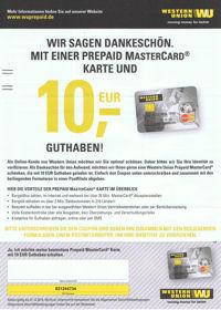 Gutschein von Western Union