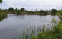 Ferienhaus-Grundstück am Kanal mit Wasserkreuzung