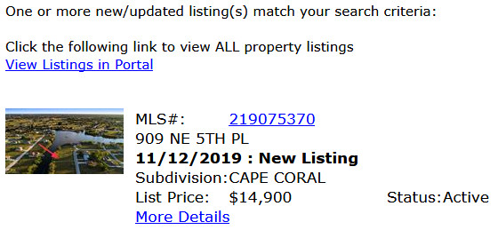 Cape Coral Immobilien E-Mail