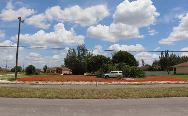 Großes Grundstück in der Nelson Road