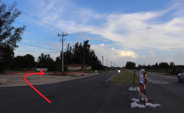 Grundstück an neuer Nelson Road