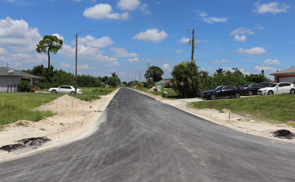 Blick nach Norden vom Florida-Grundstück