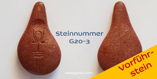 Stein der Harmonie Gold-Rot Vorführstein