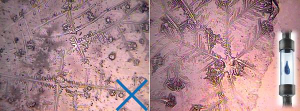 Strukturiertes Wasser in der Kristallanalyse